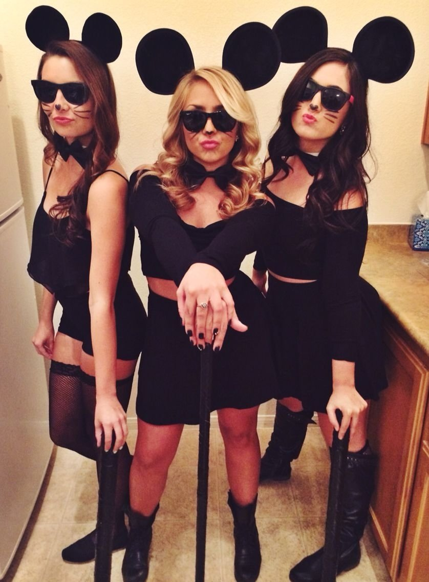 10 Best Group Of Three Costume Ideas halloween three blind mice costumes pictures i love pinterest 2021