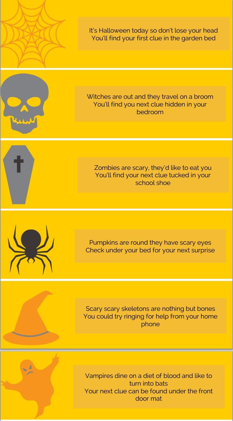 10 Stunning Halloween Scavenger Hunt Ideas For Kids 2020