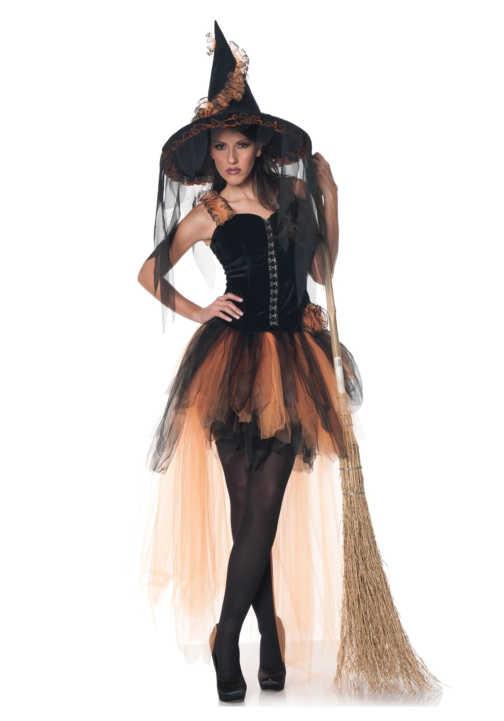 10 Wonderful Witch Costume Ideas For Women hallows eve womens orange black witch costume 2020