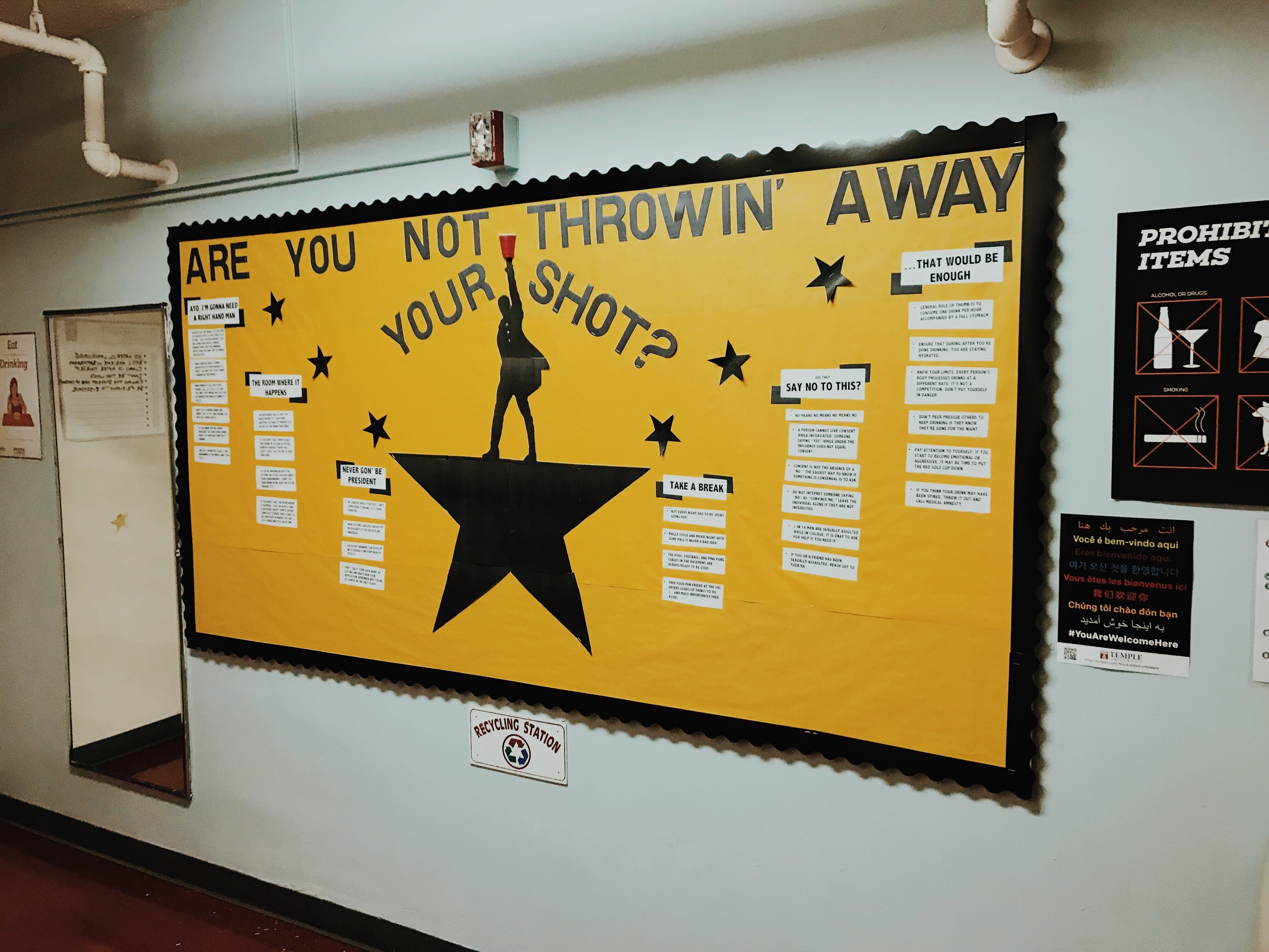 10 Amazing Bulletin Board Ideas For Ras hamilton inspired bulletin board for ras about alcohol awareness 2021