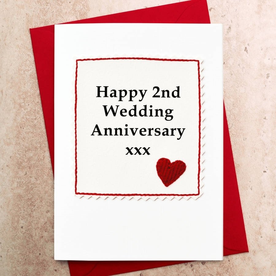 10 Beautiful 2Nd Year Wedding Anniversary Gift Ideas handmade 2nd wedding anniversary cardjenny arnott cards gifts 1 2021