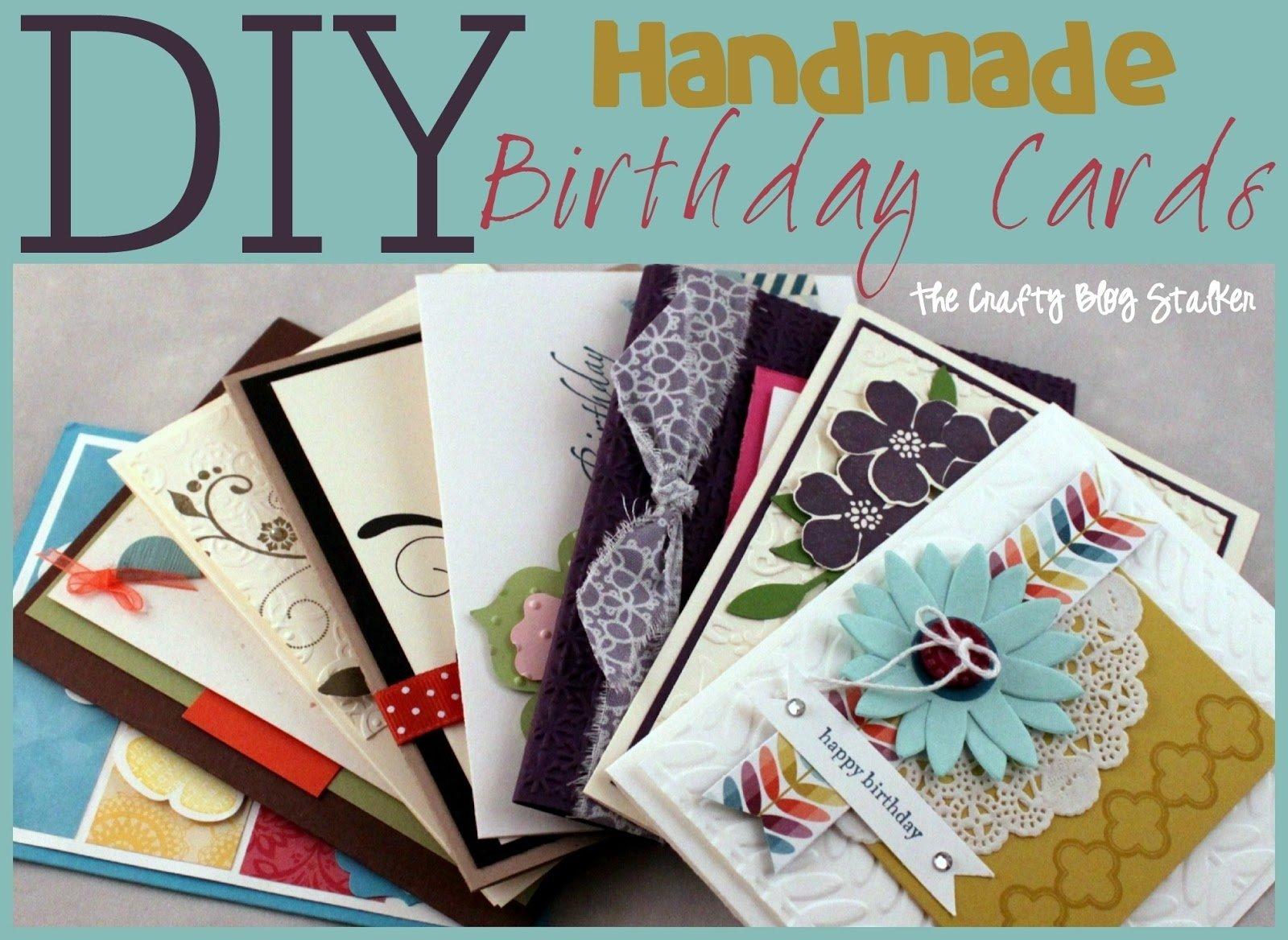 10 Unique Ideas For Handmade Birthday Cards handmade birthday card ideas the crafty blog stalker 2021