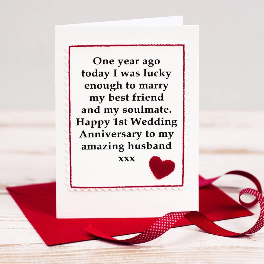 10 Trendy One Year Anniversary Ideas For Wife handmade first anniversary cardjenny arnott cards gifts 1 2021