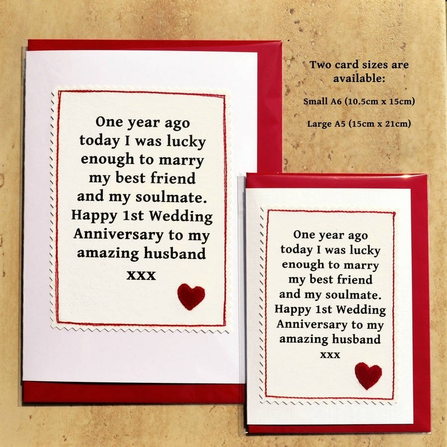 10 Great First Year Wedding Anniversary Ideas handmade first anniversary cardjenny arnott cards gifts 2020