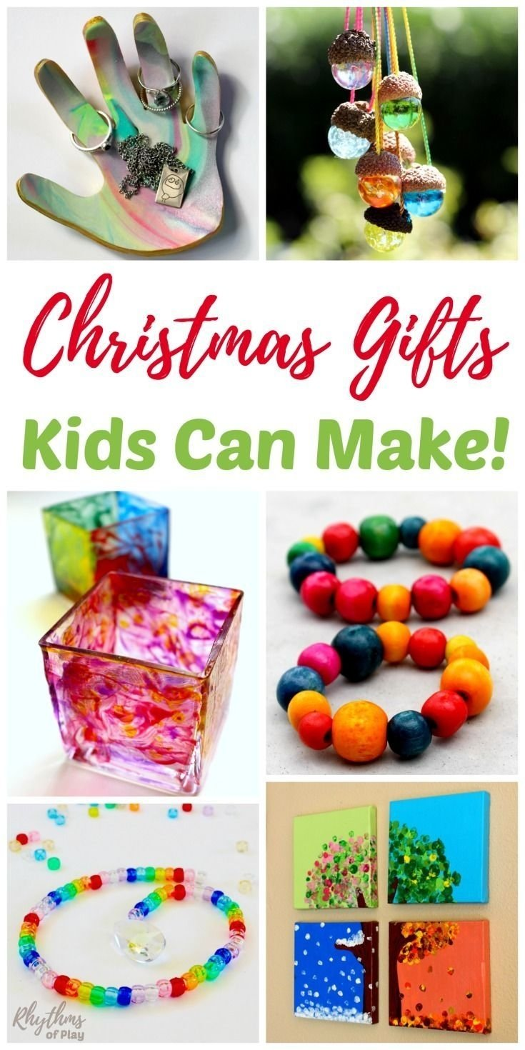 handmade gifts kids can make for family and friends | bricolage