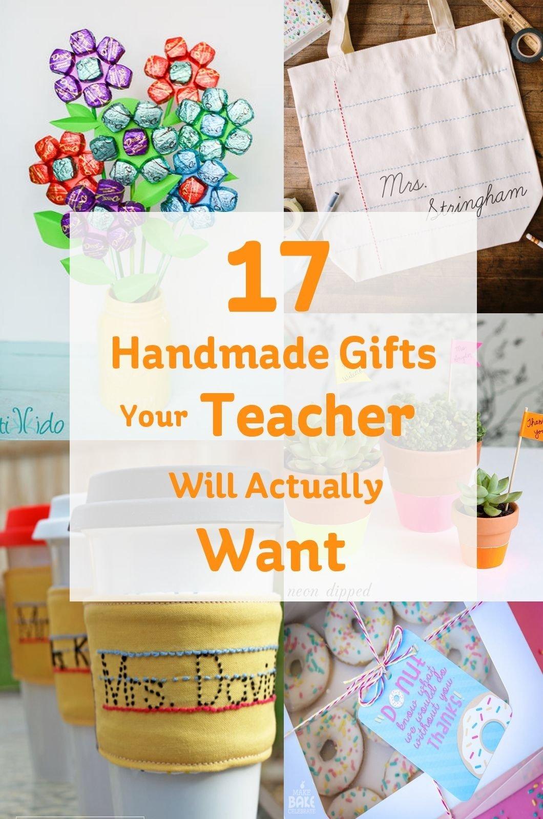 10 Best Teacher Appreciation Homemade Gift Ideas handmade gifts your teacher will actually want teacher and gift 2020