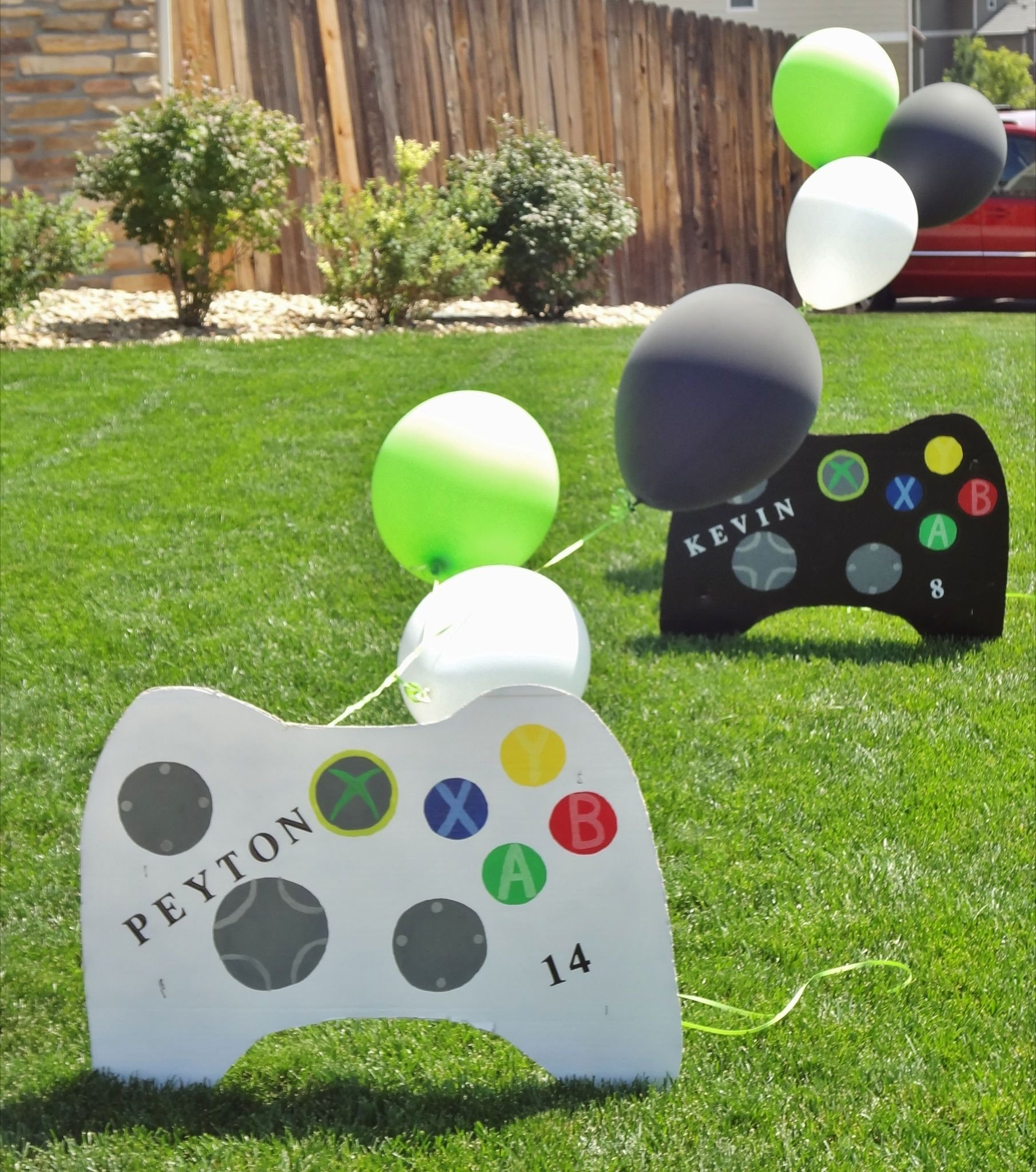 10 Lovely Video Game Birthday Party Ideas handmade lawn signs out of cardboard and spray paint peytons 2020