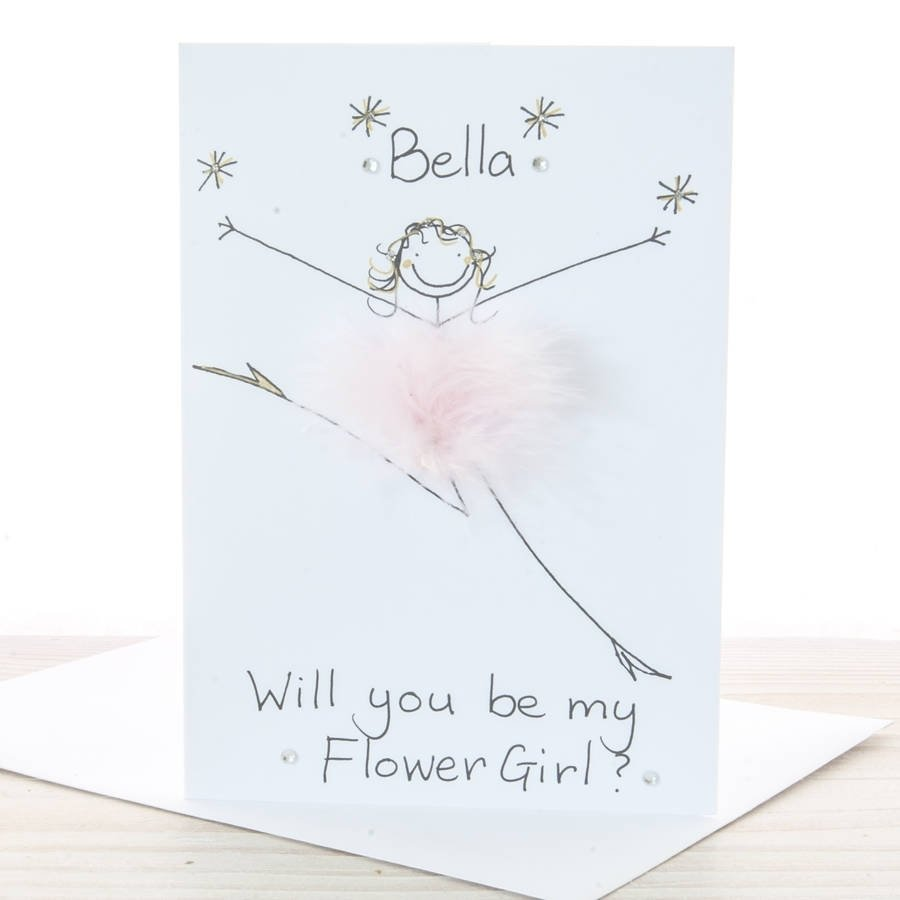 handmade personalised will you be my flower girl cardall things
