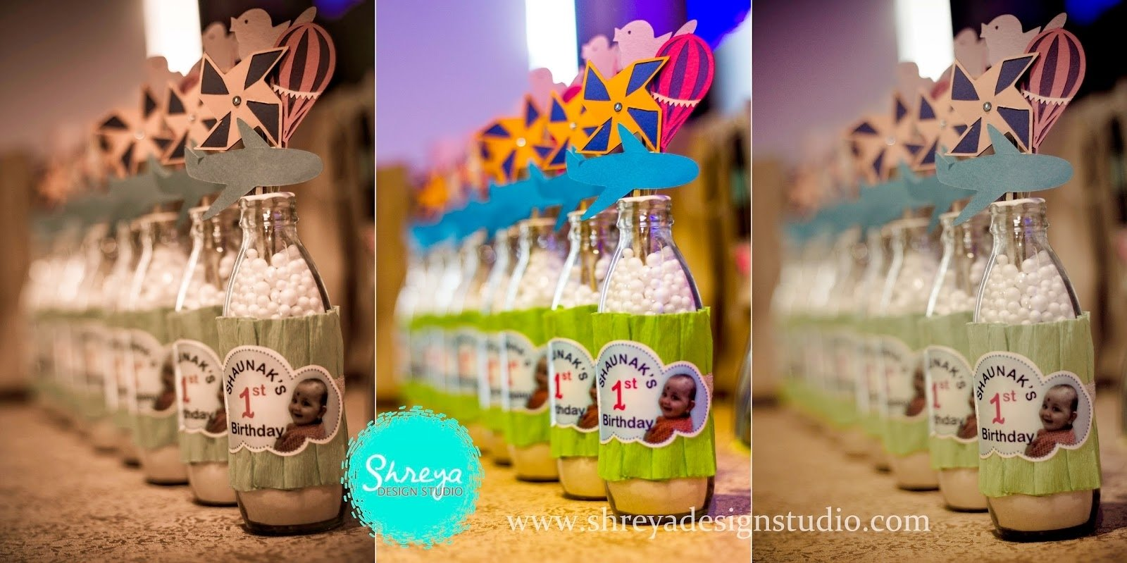 handmade return gifts- shaunak's 1st birthday party | shreya design