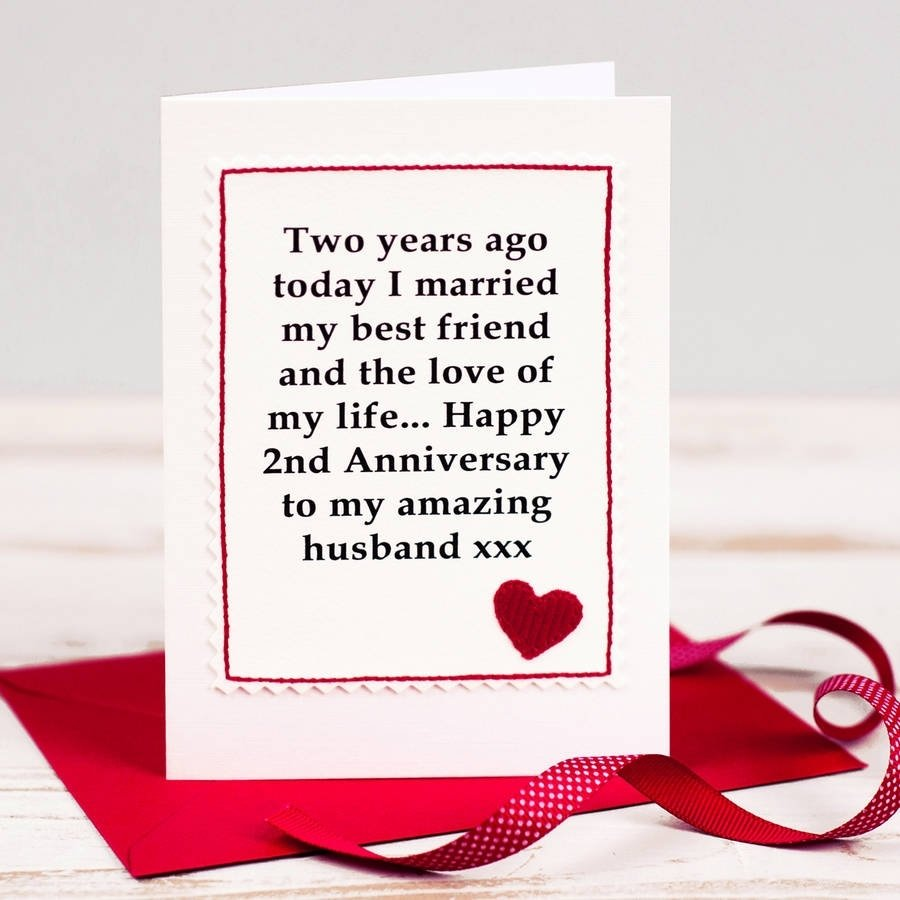 10 Fabulous Second Anniversary Gift Ideas For Husband handmade second anniversary cardjenny arnott cards gifts 2020