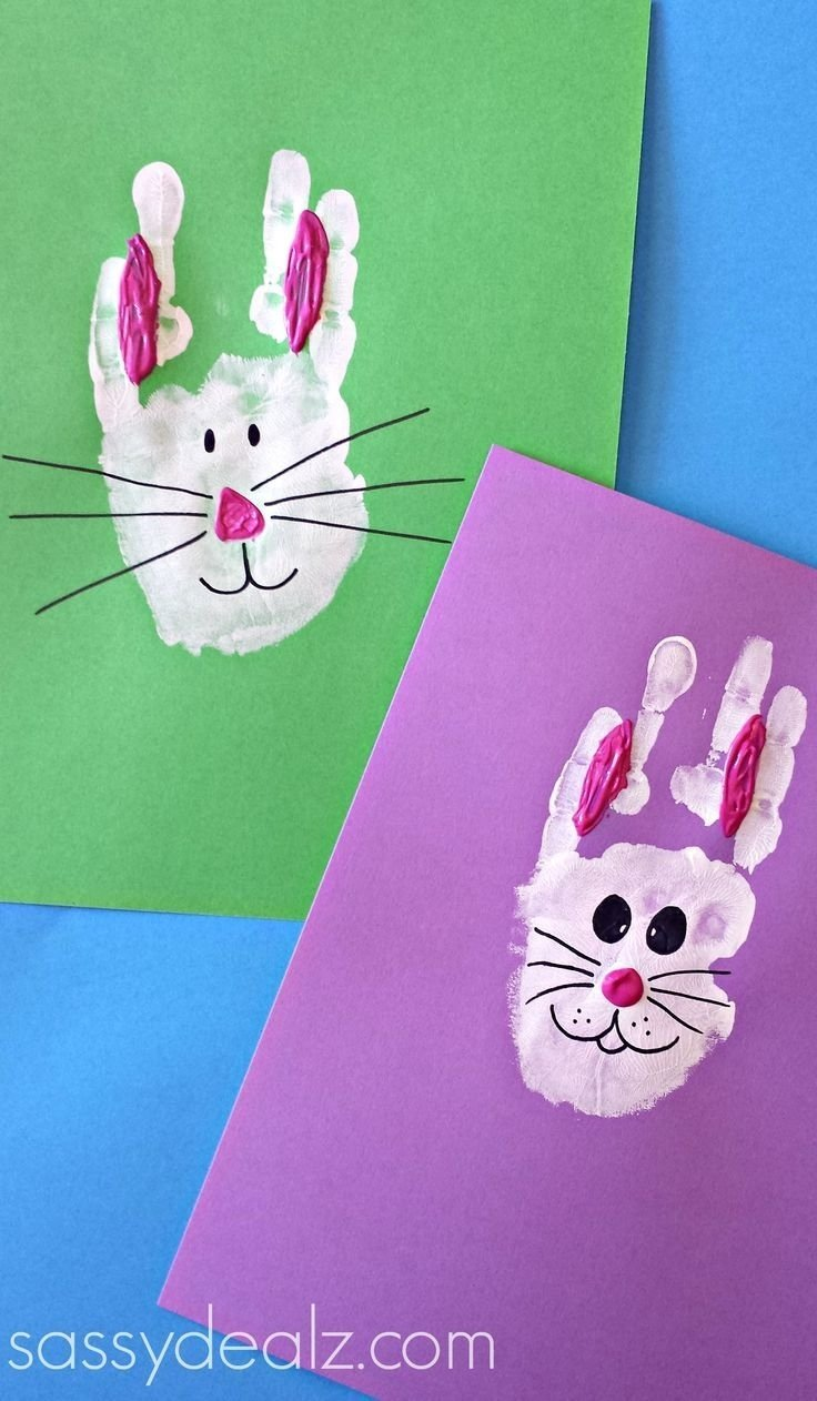 10 Ideal Craft Ideas For 2 Year Olds handprint crafts for 2 year old bunny rabbit handprint craft for 2020