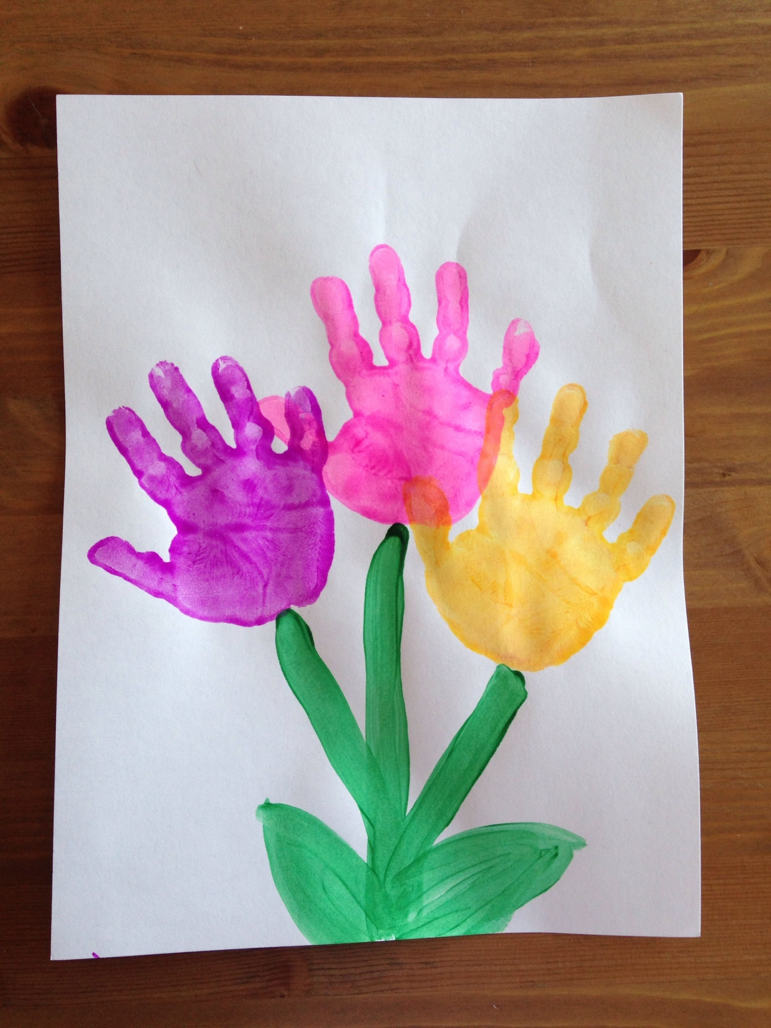 10 Most Recommended Spring Craft Ideas For Preschoolers handprint flower craft spring craft preschool craft kids 1 2021