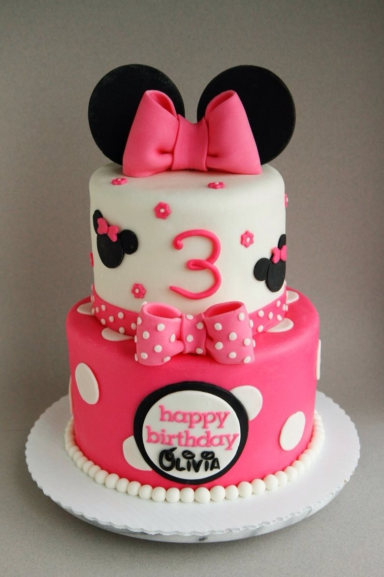10 Ideal Minnie Mouse Birthday Cake Ideas happy 3rd birthday olivia a 6 8 minnie mouse cake filled with