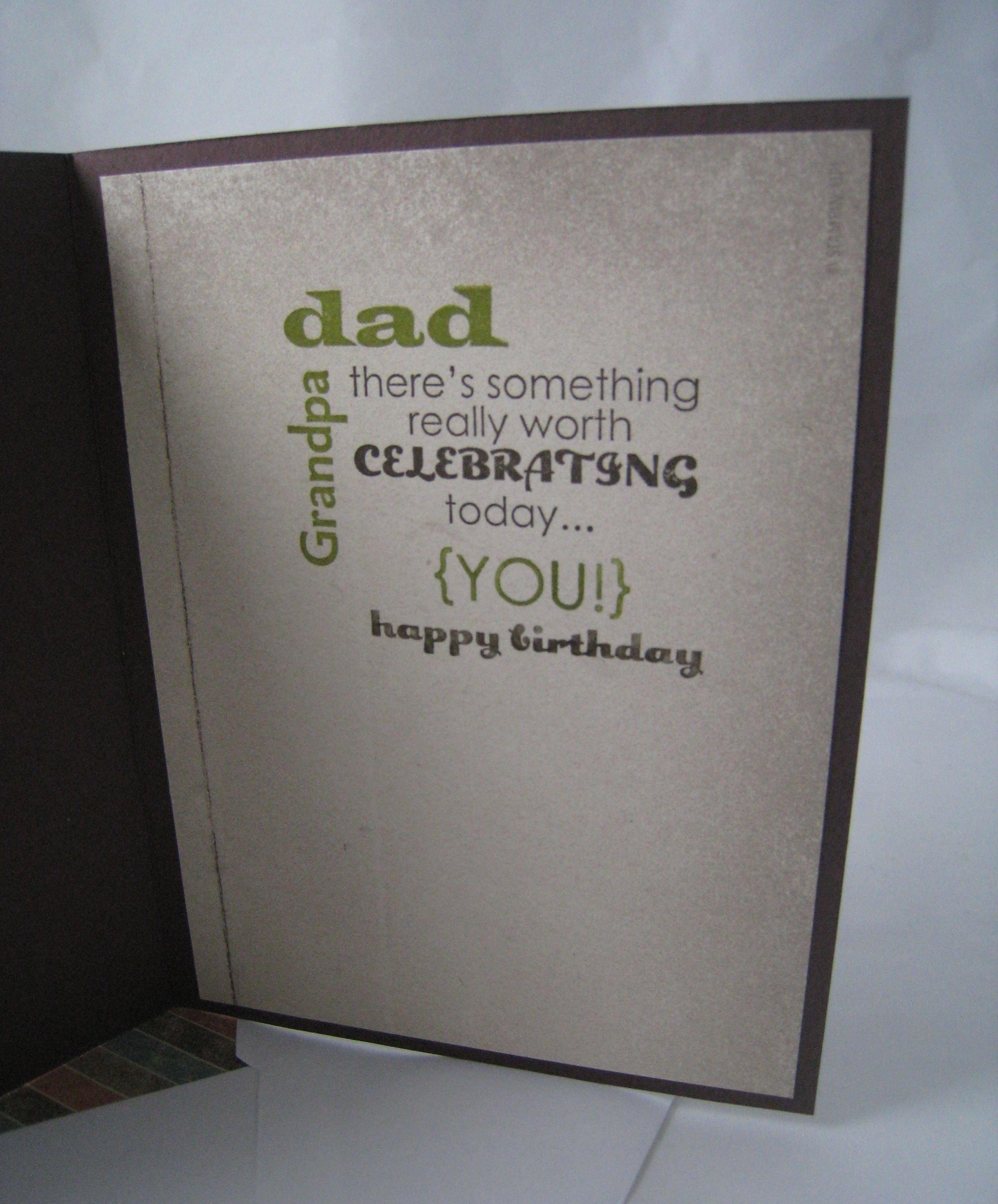 happy birthday, dad! | stampinu