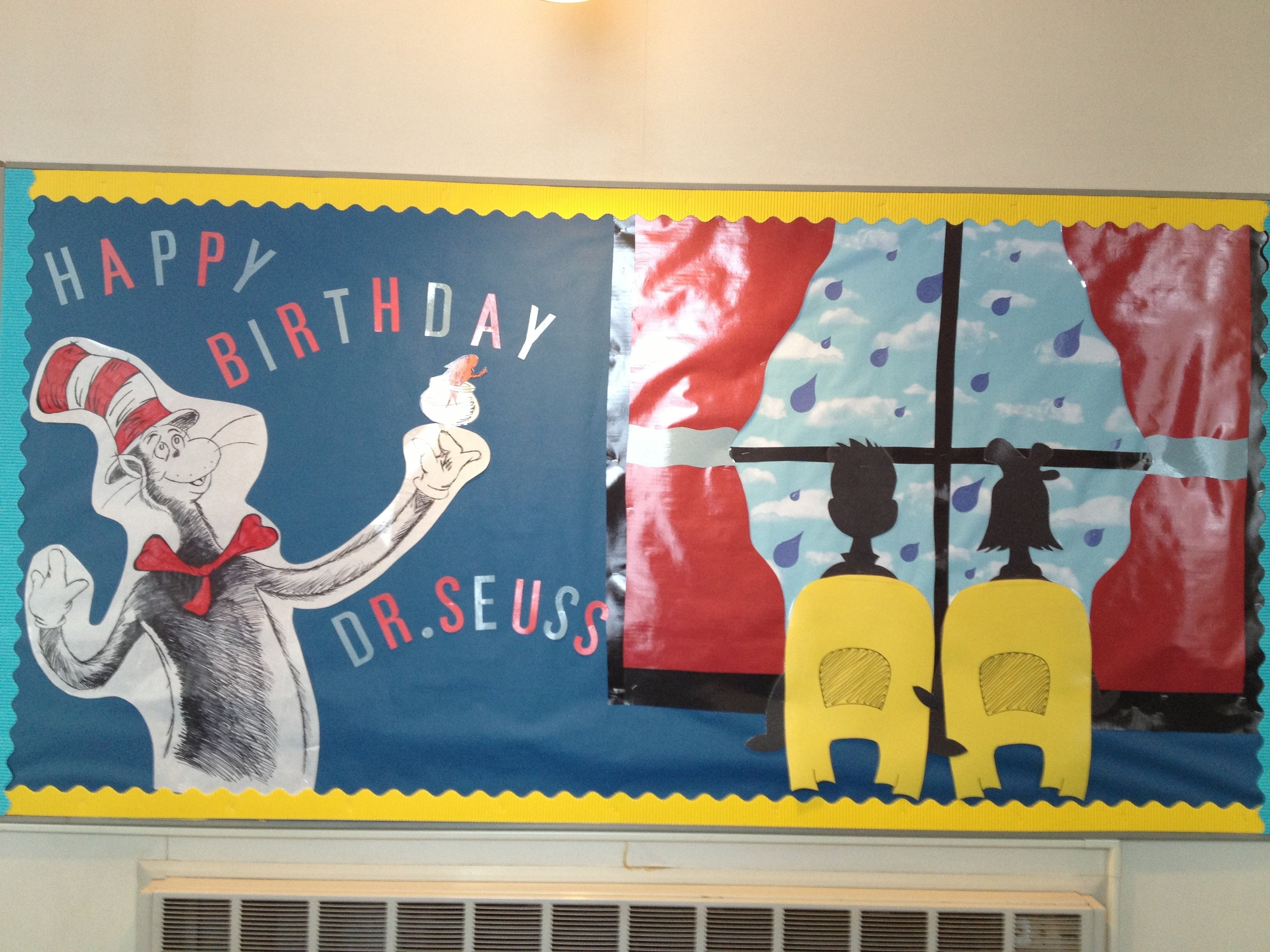 10 Stylish Ideas For Dr. Seuss Day happy birthday dr seuss bulletin board teaching ideas 2020