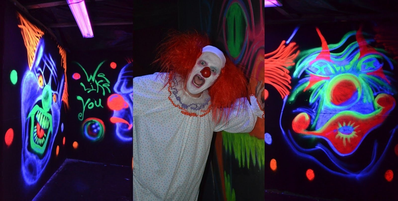 haunted house room ideas | third room was the clown room