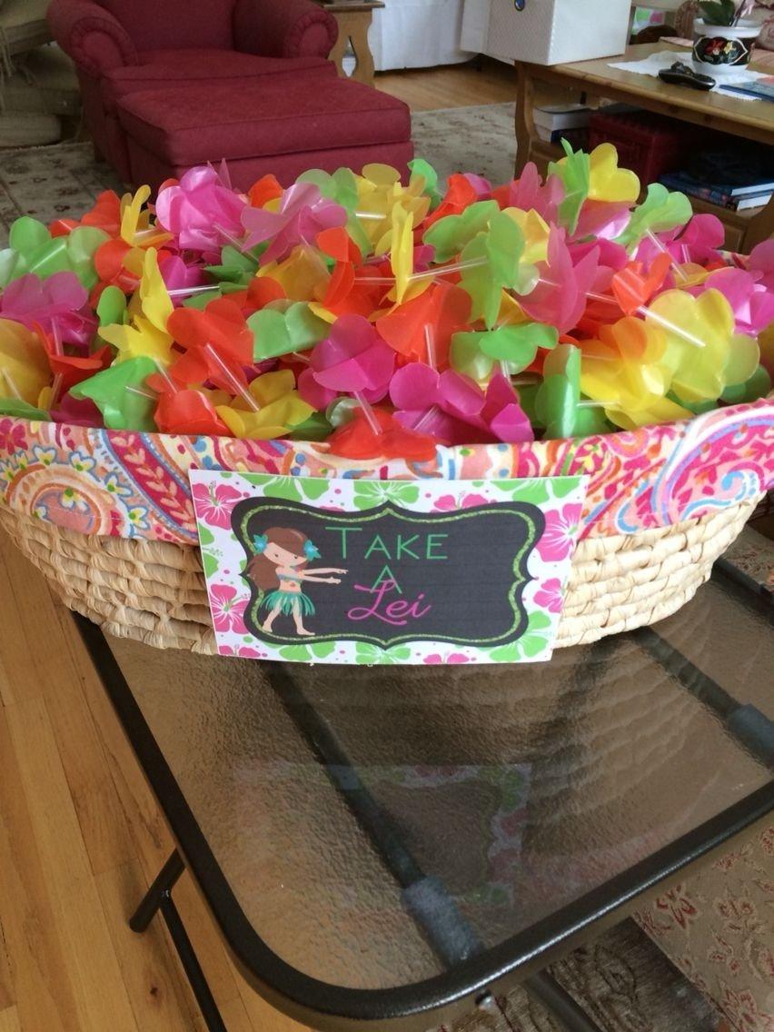 10 Fantastic Luau Party Ideas For Kids hawaiian luau birthday lei signcelebrationsmaria maloris 2021