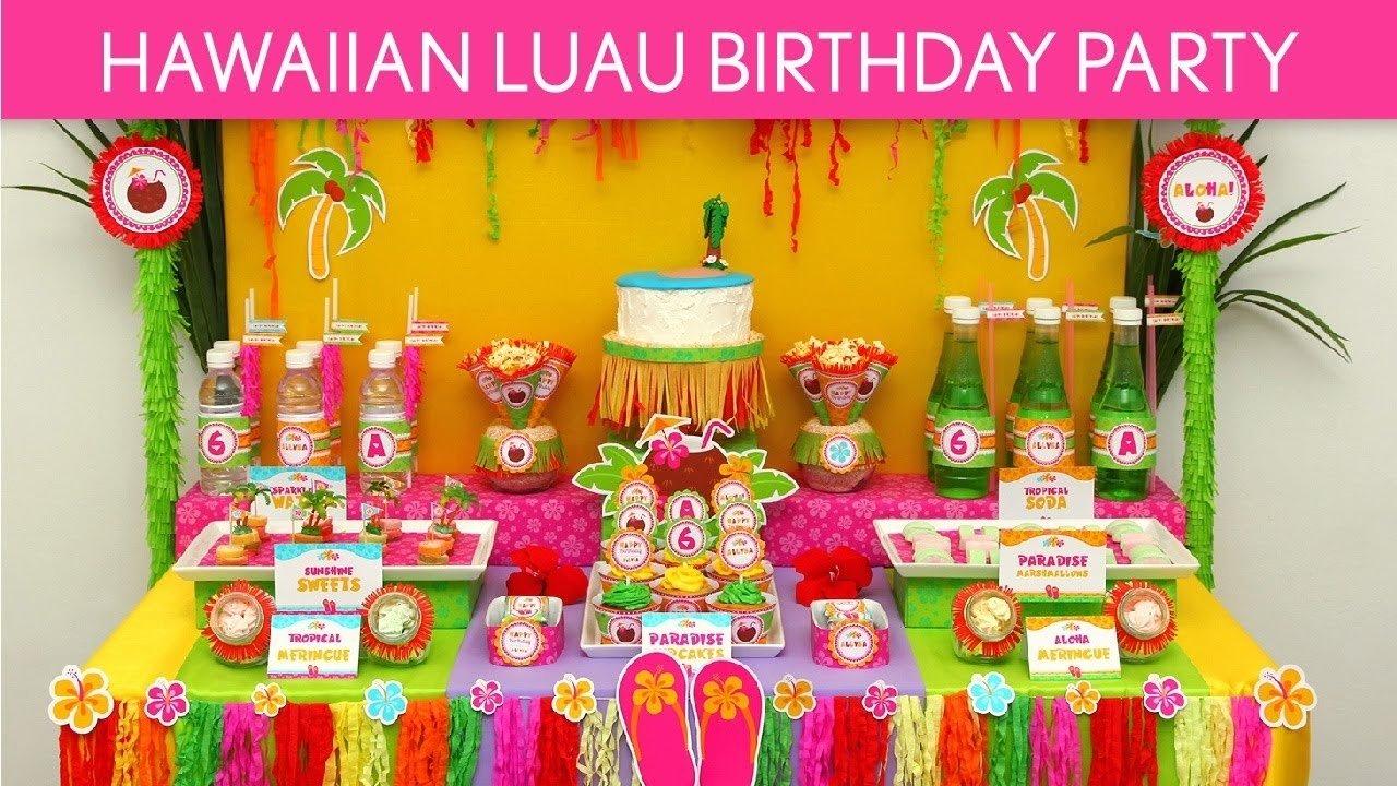 10 Fantastic Luau Party Ideas For Kids hawaiian luau birthday party ideas hawaiian luau b45 youtube 2021