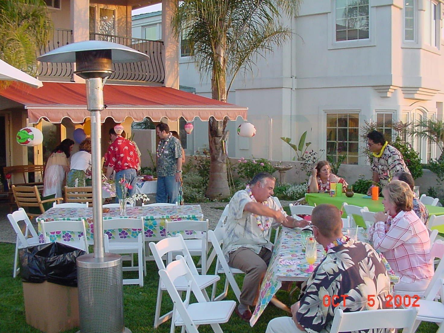 10 Stylish Backyard Birthday Party Ideas For Adults hawaiian luau for a 50th birthday party fetesuzette backyard