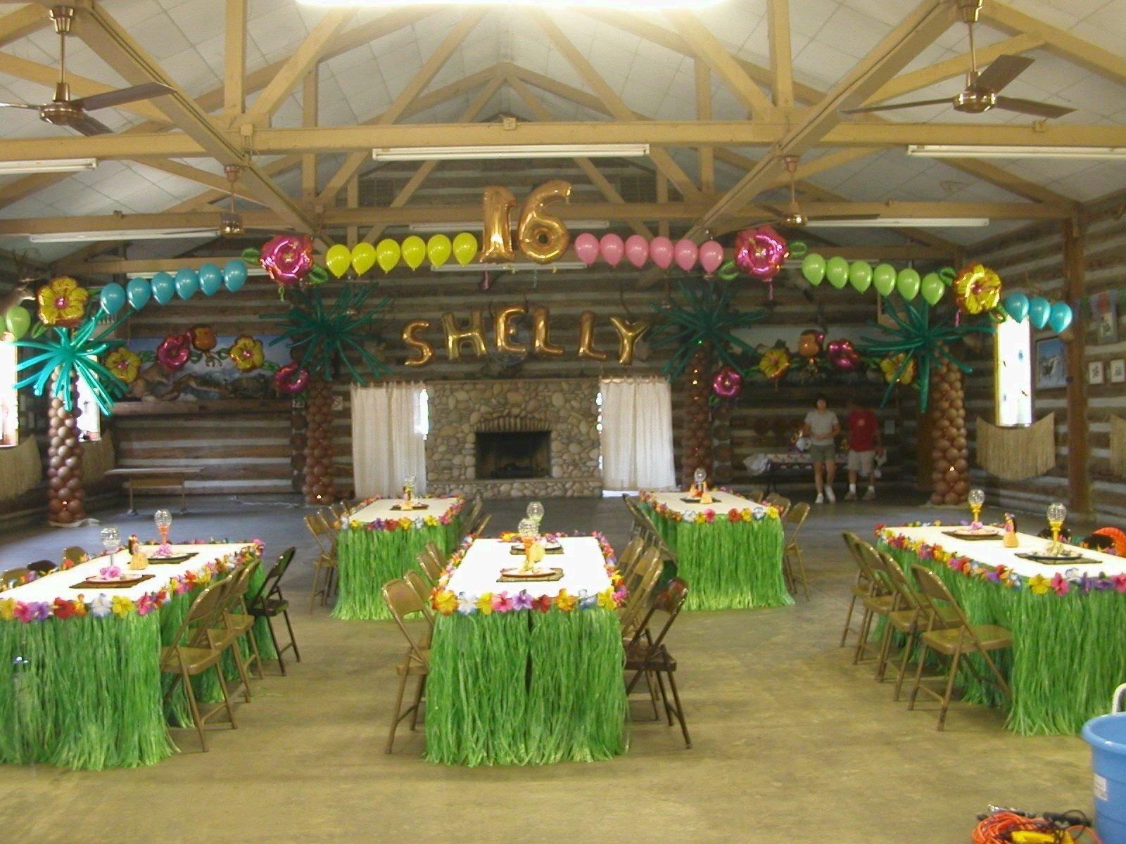 hawaiian luau party decorations | luau themed balloon decorations
