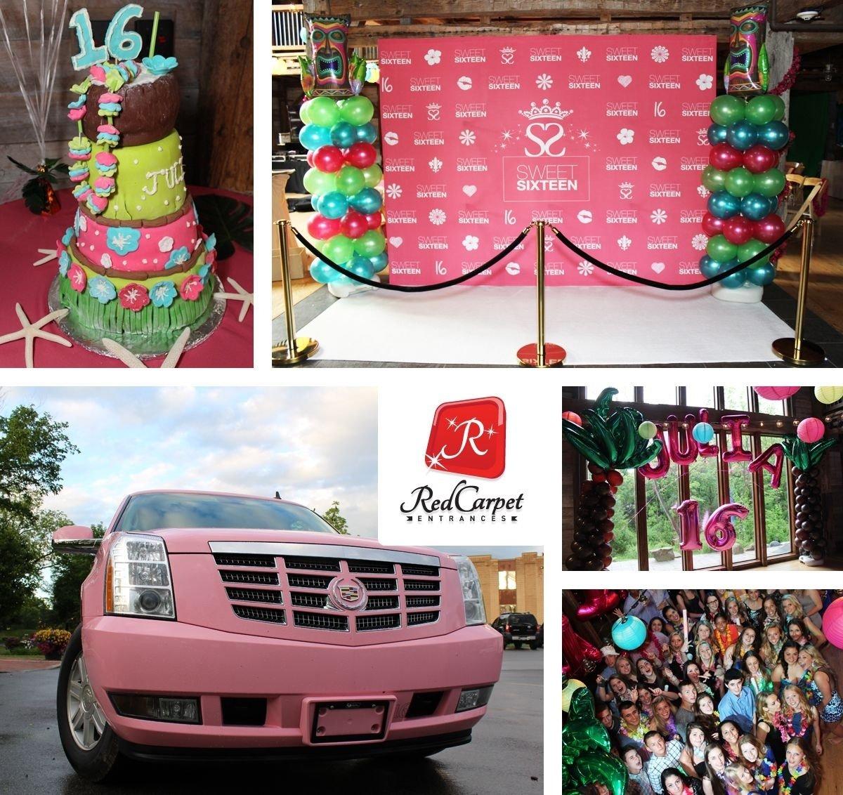 10 Fantastic Sweet 16 Limo Party Ideas hawaiian luau sweet 16 birthday theme with non alcoholic tikki bar 2020