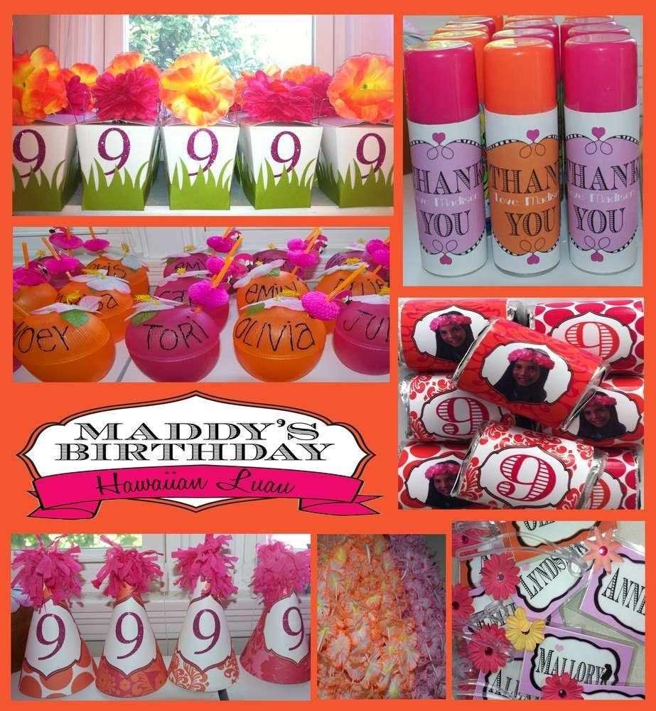 10 Perfect Birthday Party Ideas For 9 Year Old Girls hawaiian party birthday party ideas photo 1 of 25 catch my party 5 2021