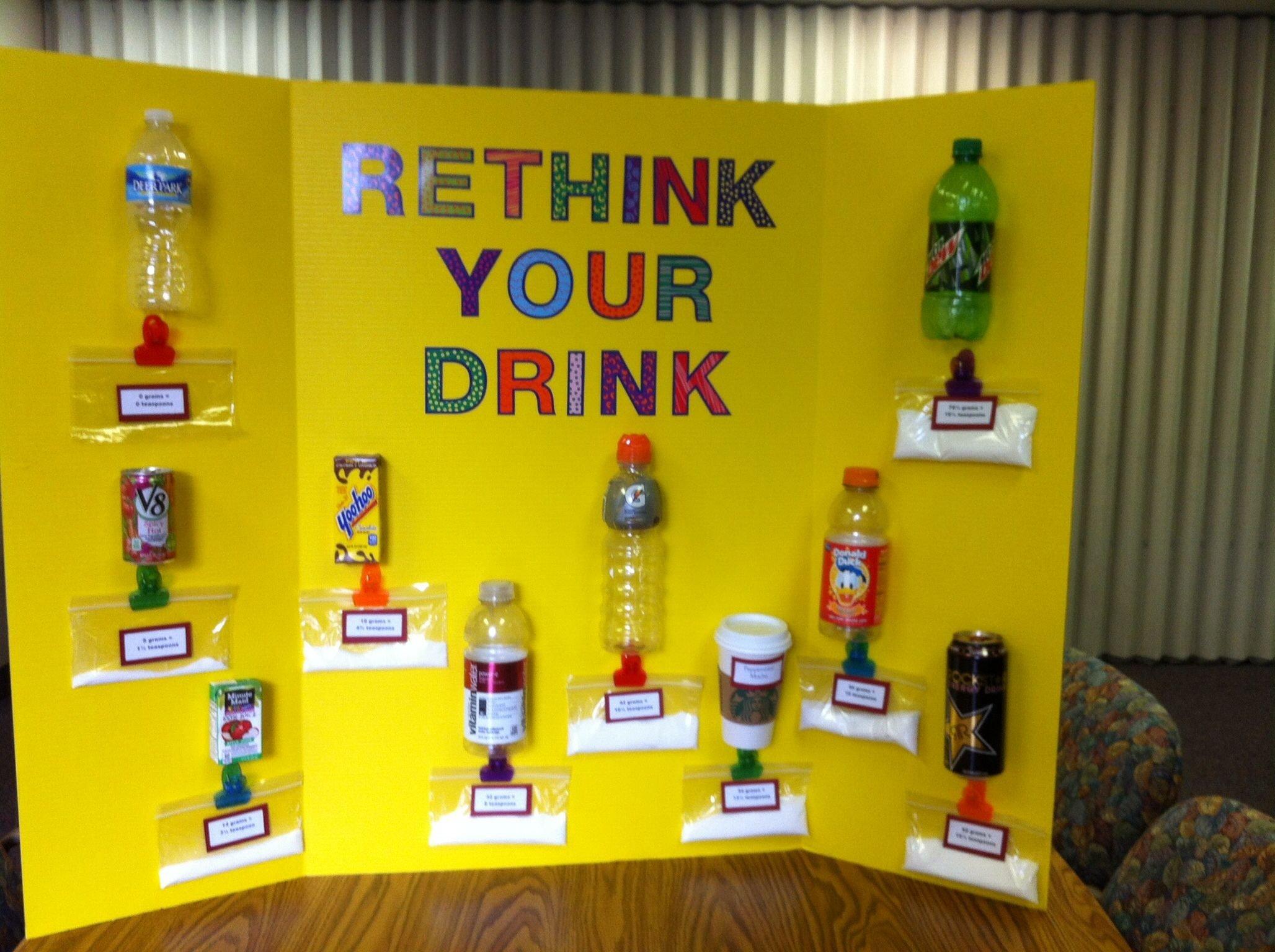 10 Stylish Health Fair Ideas For Kids health fair sugar content in drinks education pinterest 2021