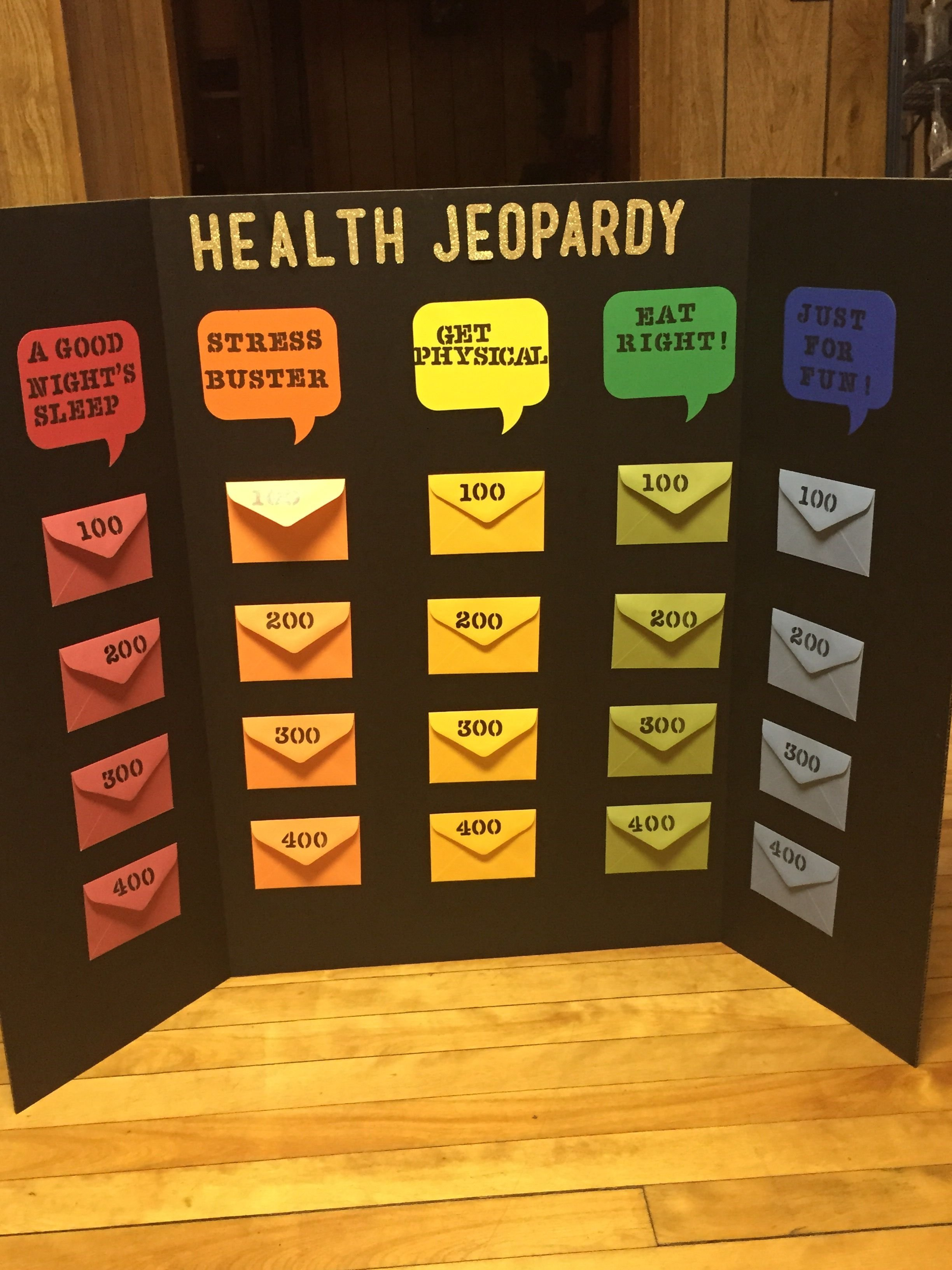 10 Stylish Health Fair Ideas For Kids health jeopardy board game diy pinterest board gaming and 2021