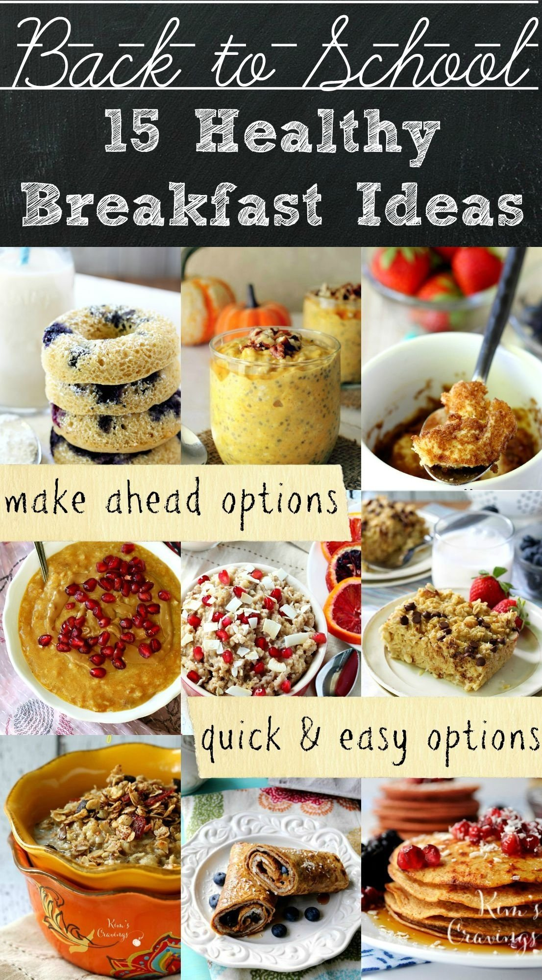 healthy back-to-school breakfast ideas | school breakfast, meals and