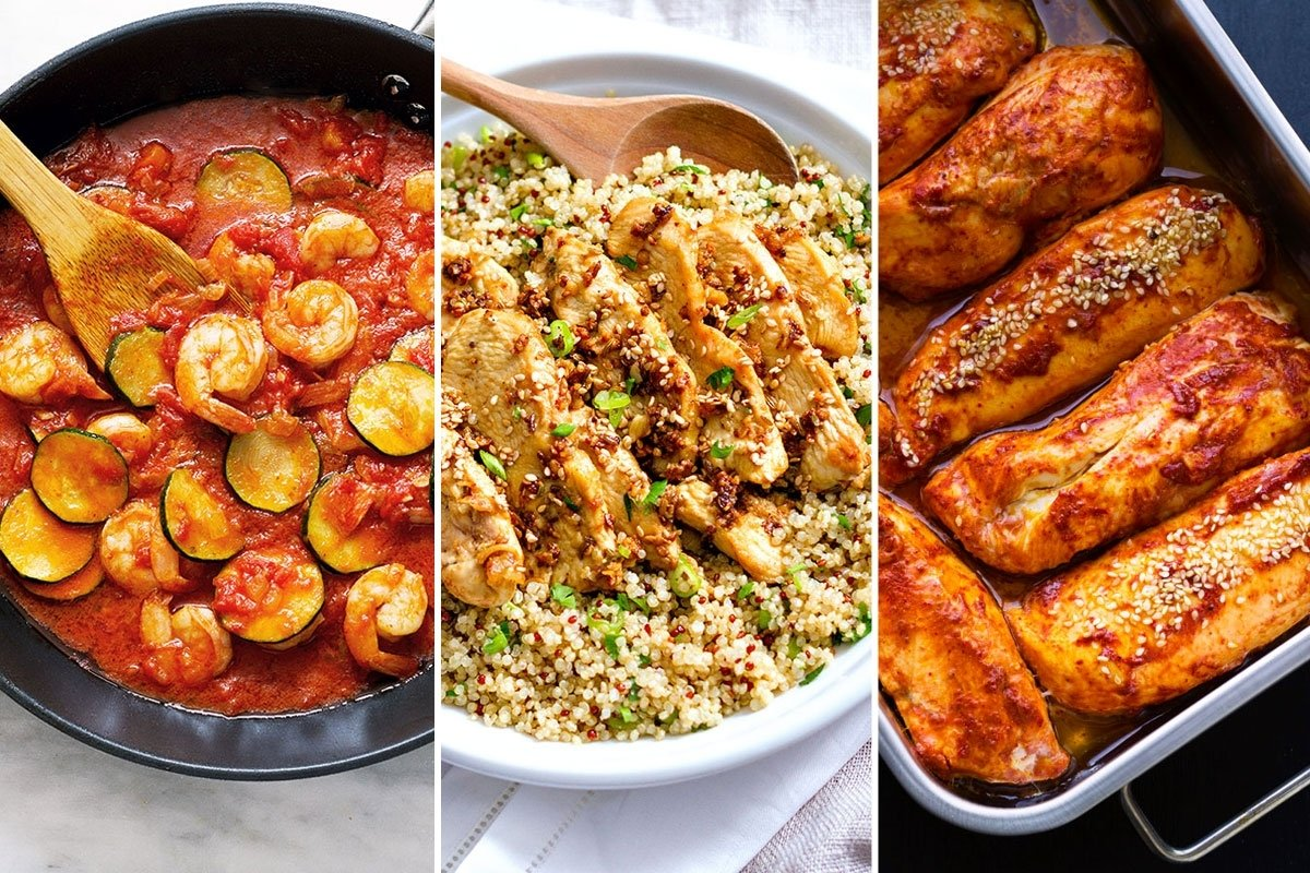 healthy dinner recipes: 22 fast meals for busy nights — eatwell101