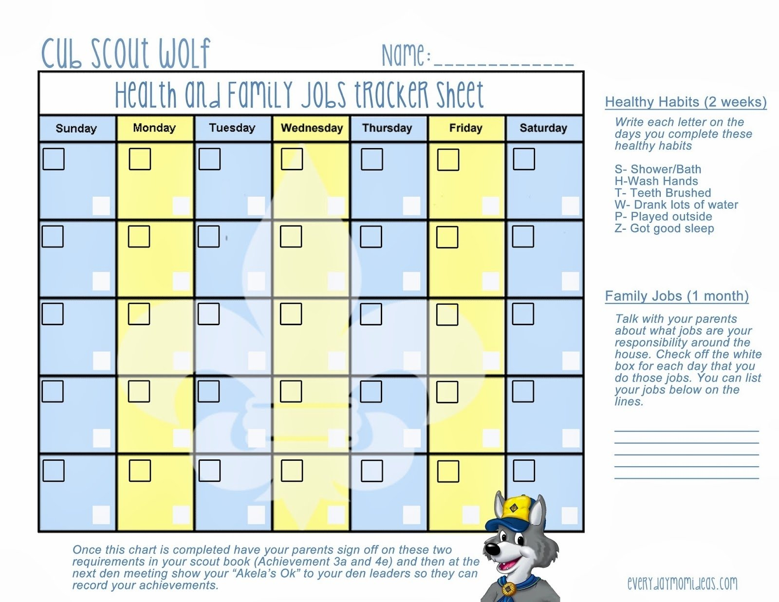 10 Stunning Cub Scout Den Meeting Ideas healthy habits wolf cub scout lesson free printable everyday 2020