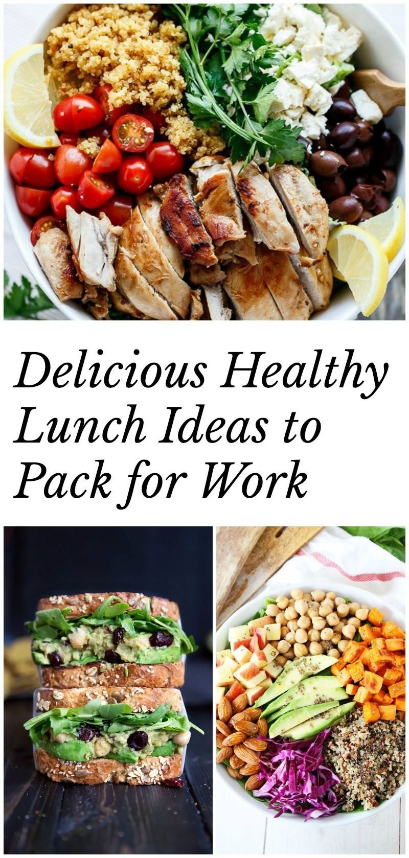 healthy lunch ideas to pack for work (40+ recipes!) | idée lunch