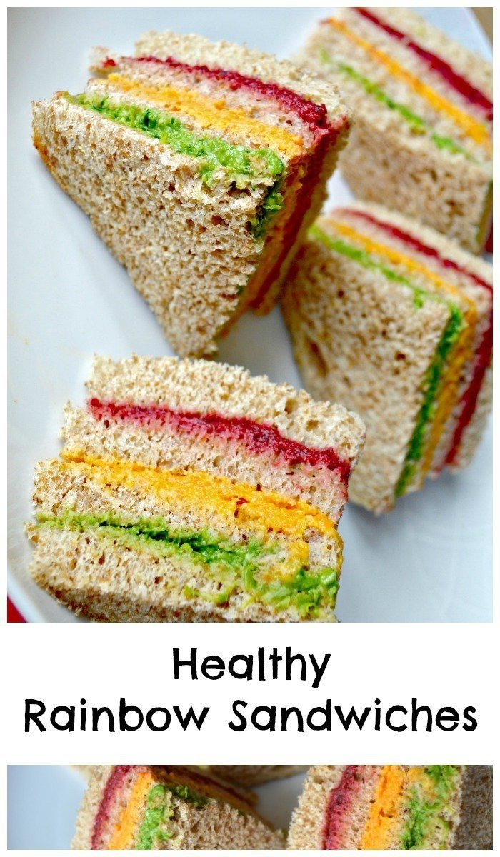 10 Pretty Picnic Food Ideas For Kids healthy rainbow sandwiches kids lunch idea lunch box lunches and 2020