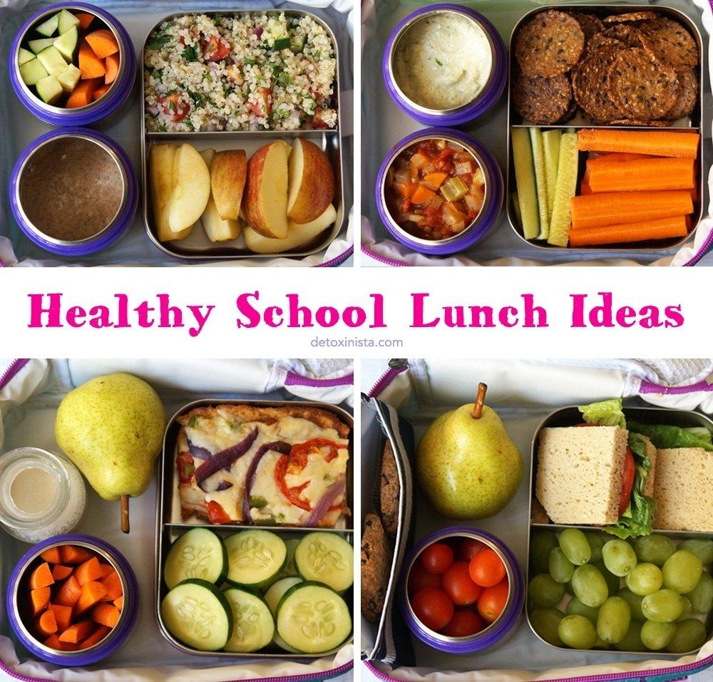 10 Cute Good Lunch Ideas For Work healthy school lunch ideas detoxinista 4 2020