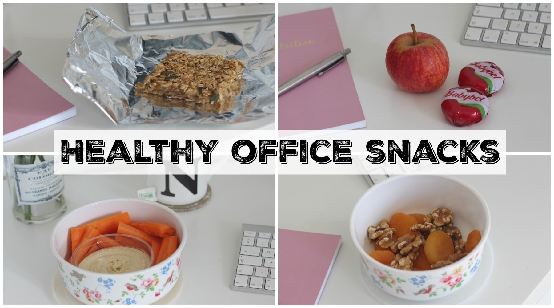 healthy snack ideas for work & the office! | uk dietitian nichola