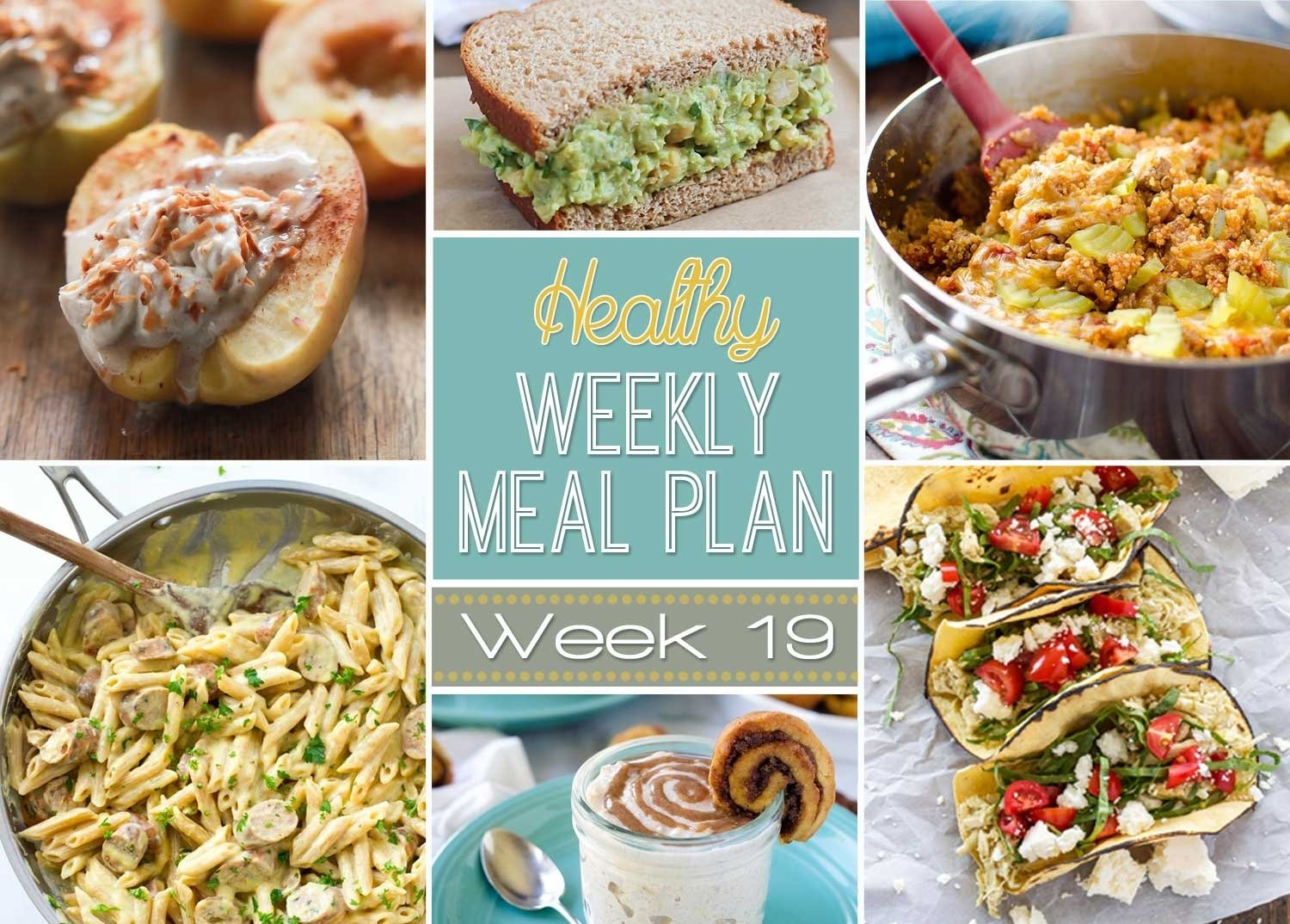 10 Stylish Dinner Ideas For The Week healthy weekly meal plan 19 with salt and wit 2020