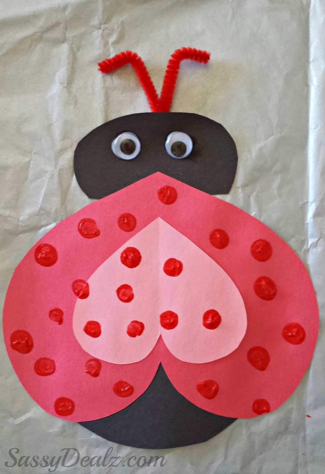 10 Fashionable Valentines Day Craft Ideas For Kids heart ladybug valentines day craft for kids crafty morning 2020