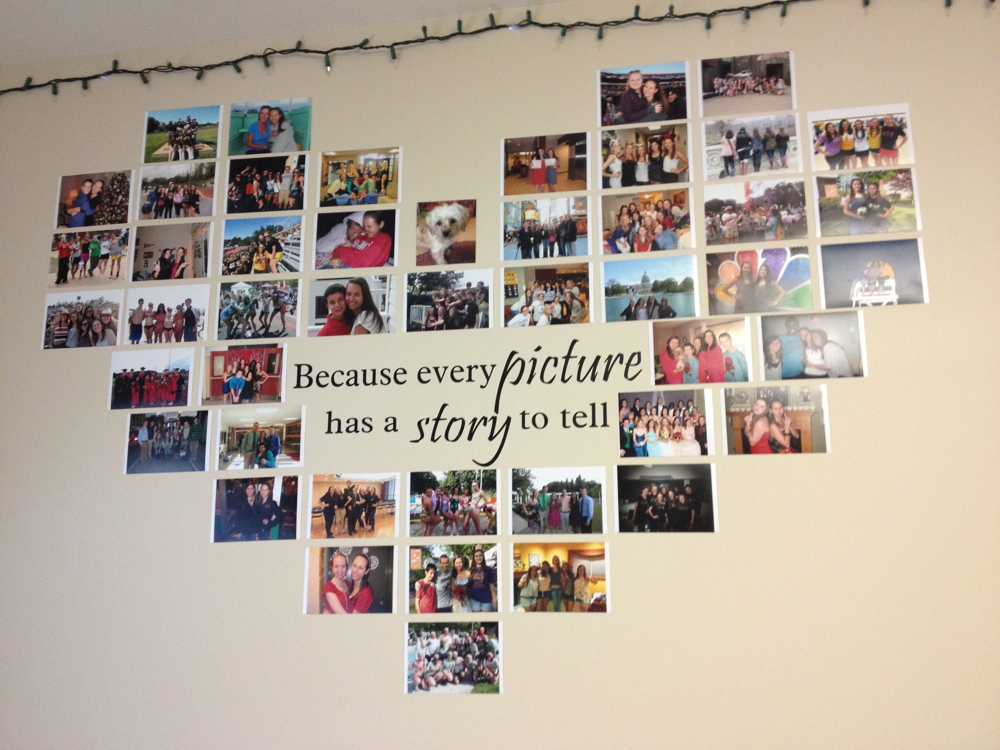 heart photo collage with a quote in the middle! quote decal from