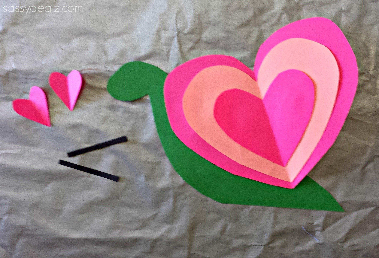 10 Best Valentine Craft Ideas For Kids heart snail craft for kids valentine art project crafty morning 2 2021