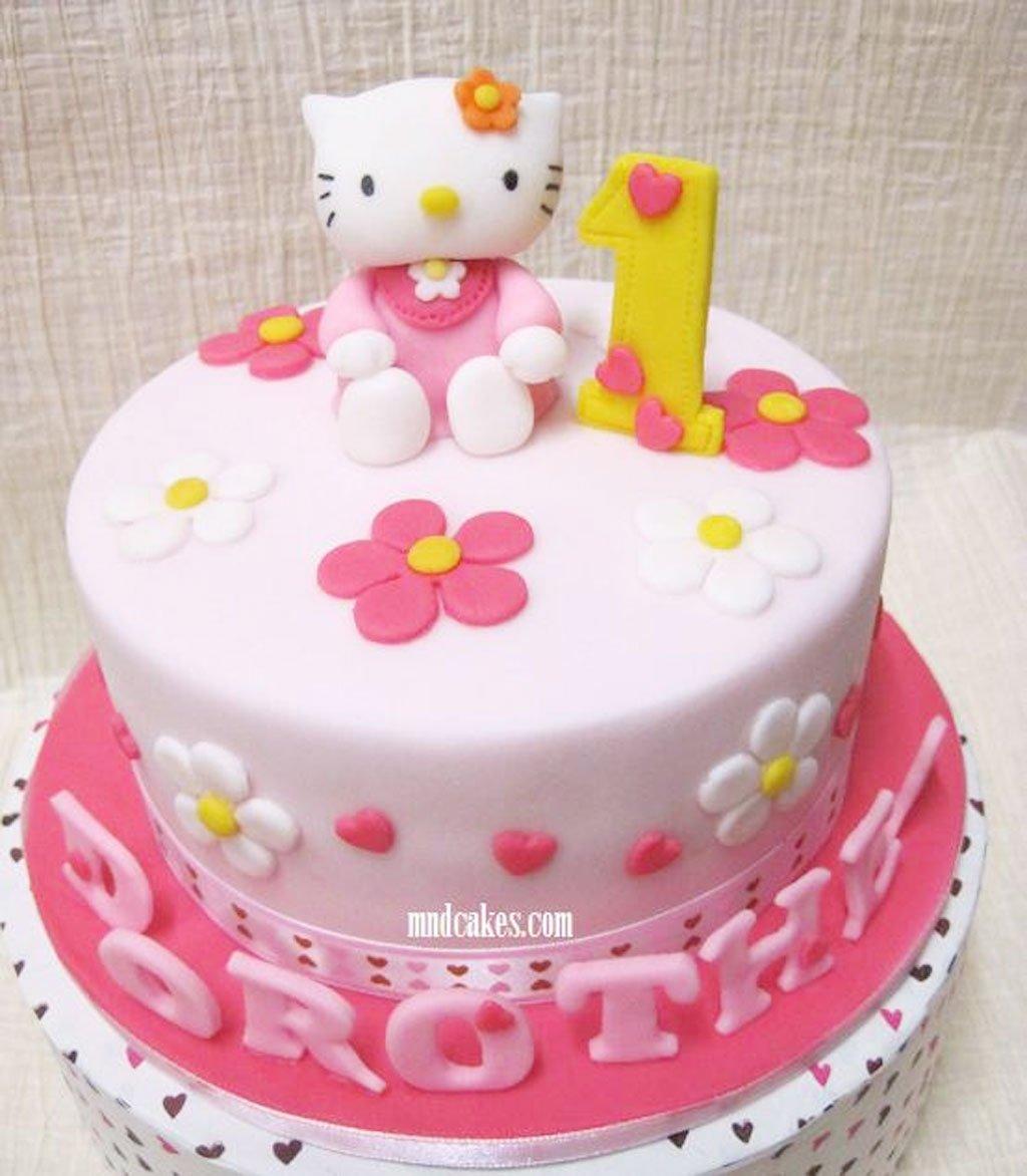 10 Unique Hello Kitty Birthday Cake Ideas hello kitty 1st birthday cake design 1024x1172 hello kitty 1 2020