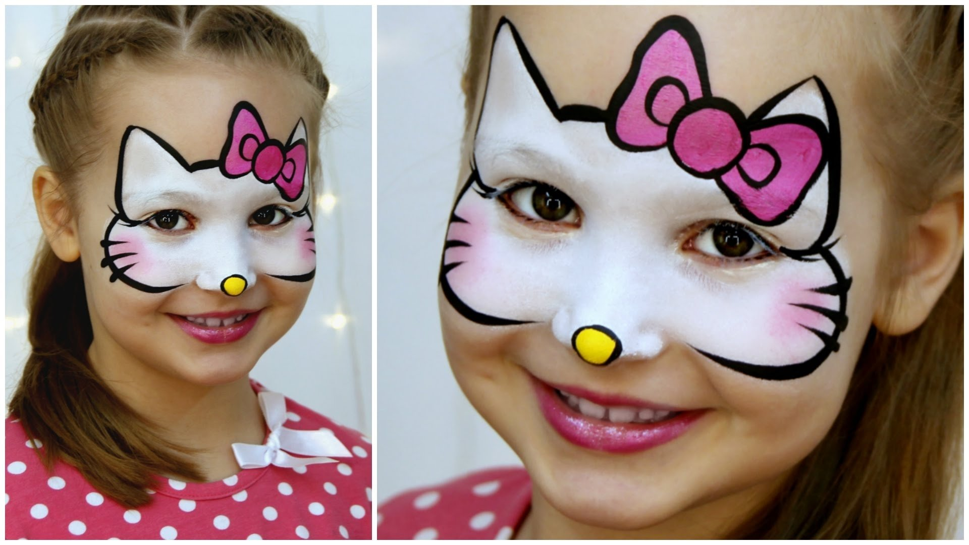 10 Cute Face Painting Ideas For Kids Step By Step hello kitty makeup for kids fast easy face painting tutorial 3