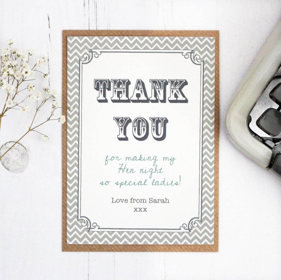 10 Famous Ideas For Thank You Cards hen party and wedding thank you cardprecious little plum 2020