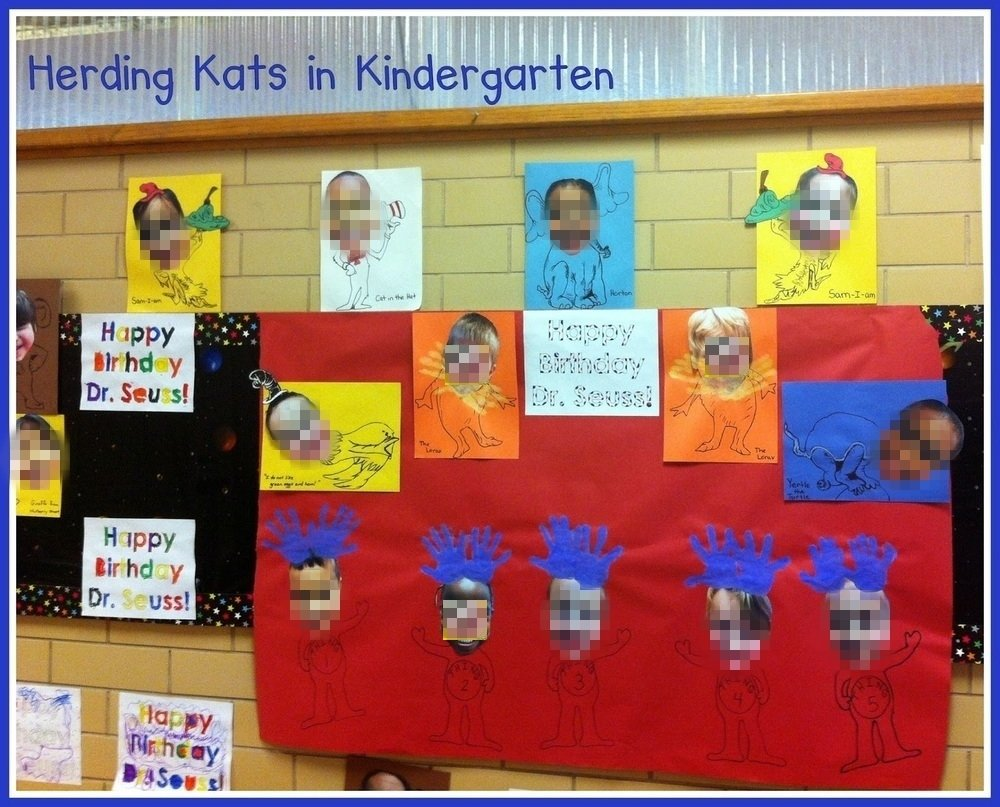 10 Best Dr. Seuss Bulletin Board Ideas For Kindergarten herding kats in kindergarten dr seuss week 2021