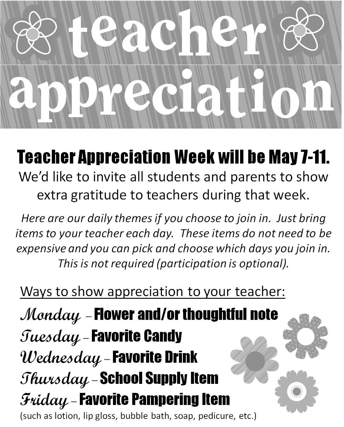 10 Gorgeous Teacher Appreciation Week Theme Ideas here are the gifts i made for my sons elementary school teacher we