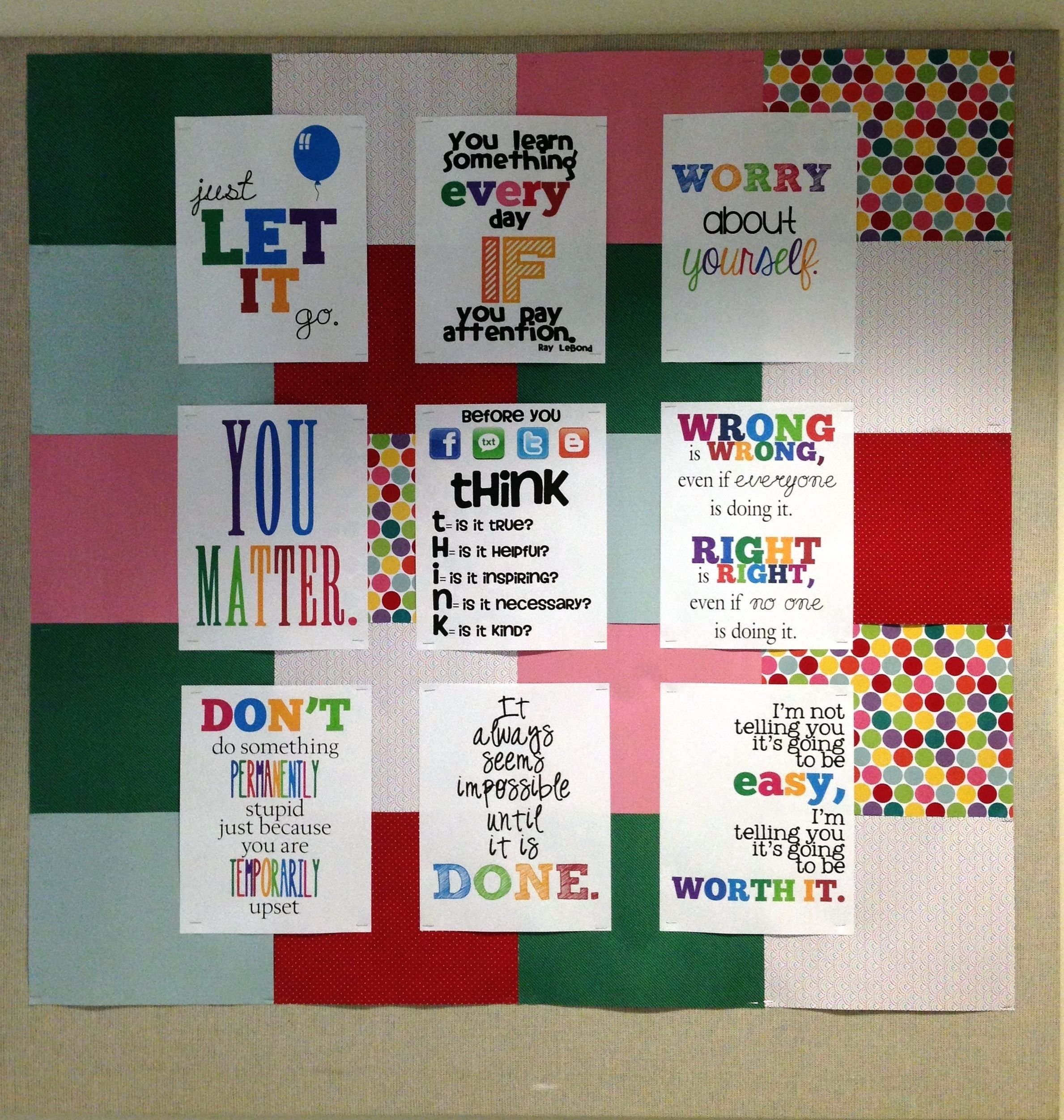 10 Most Popular High School Bulletin Board Ideas high school guidance office easy bulletin board idea school 1