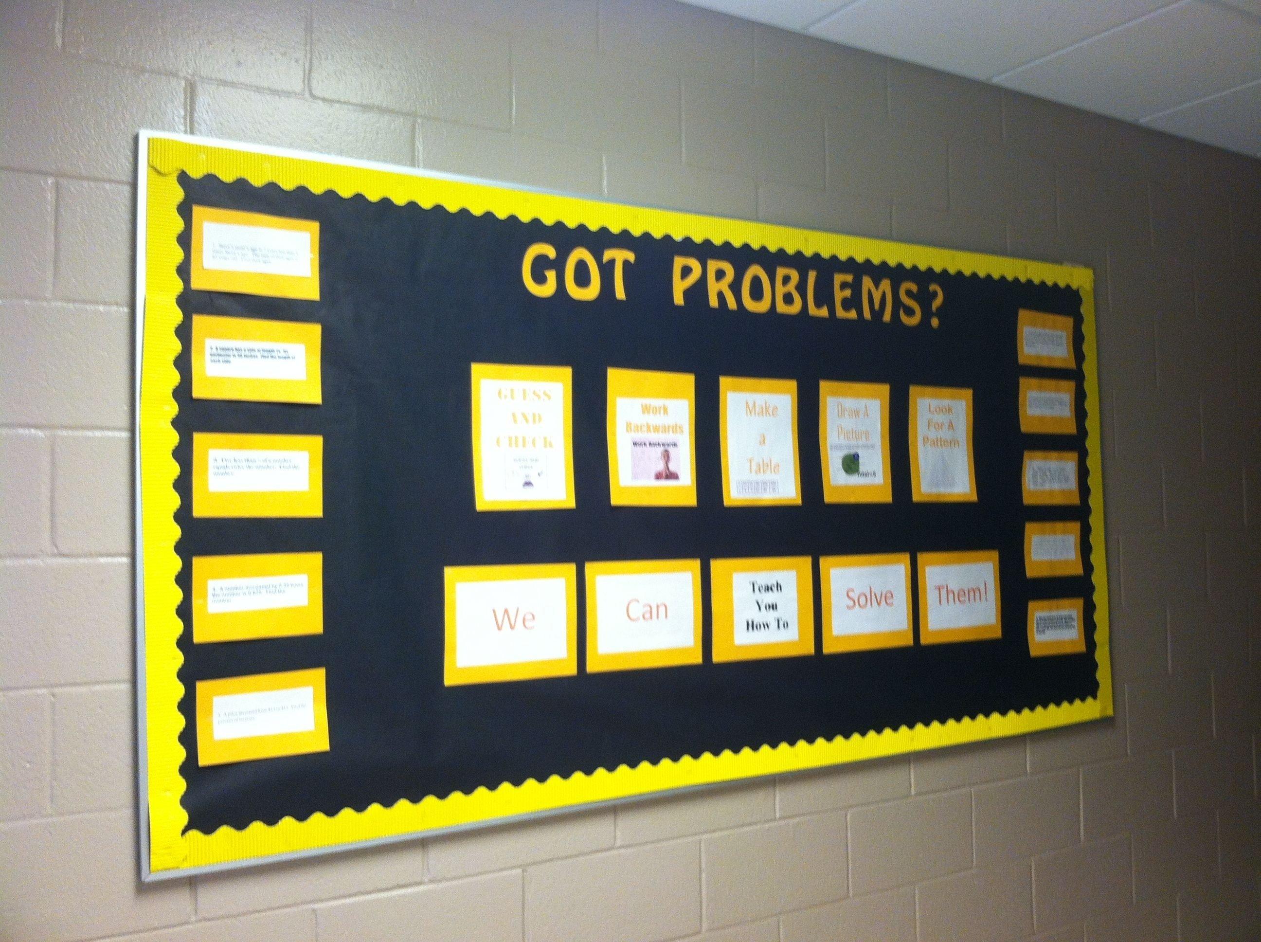 10 Attractive High School Math Bulletin Board Ideas high school math bulletin board classroom pinterest math 2020