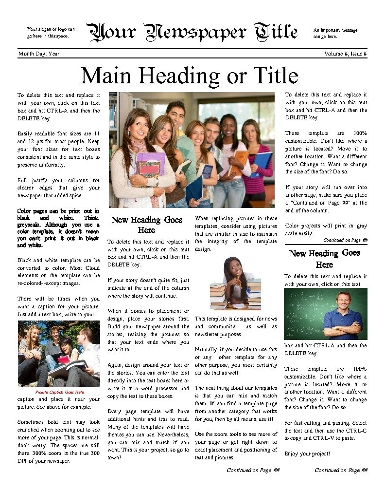 10 Attractive Middle School Newspaper Article Ideas high school newspaper article and story ideas 2020