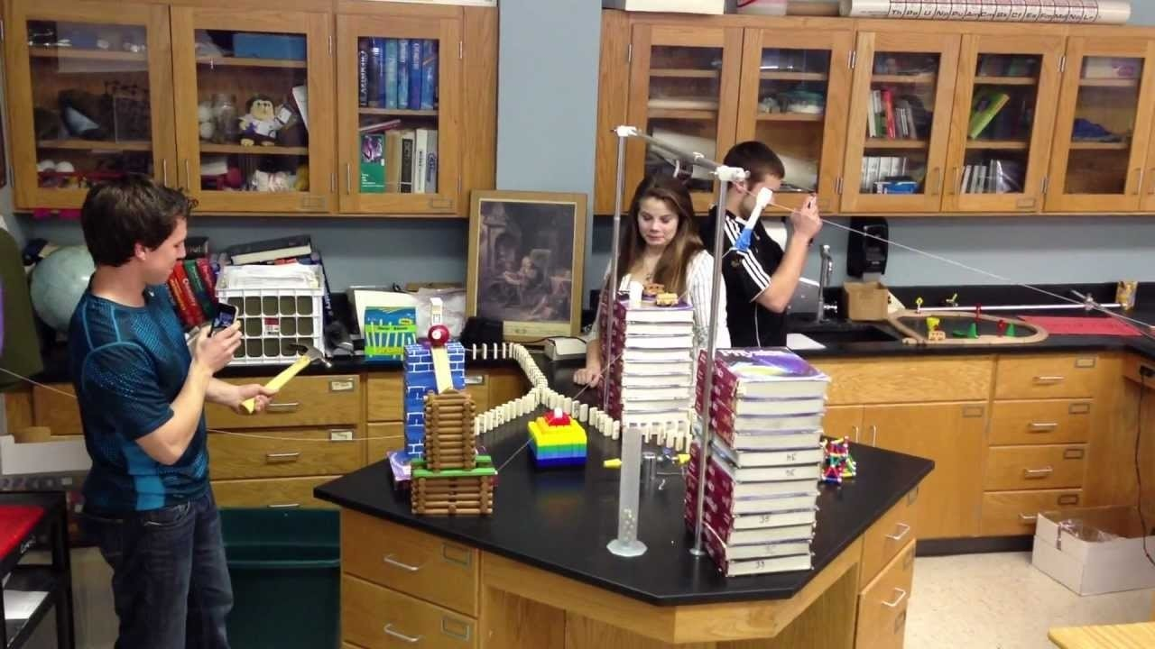 10 Attractive Rube Goldberg Machine Ideas For School high school physics rube goldberg project youtube 1