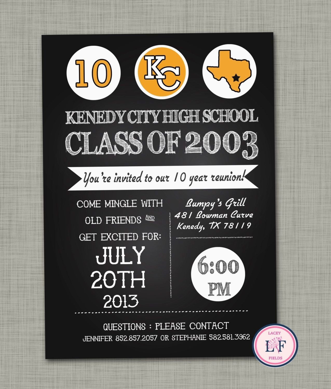 10 Beautiful 10 Year High School Reunion Ideas high school reunion invite high school reunion invitation 10 year 2021