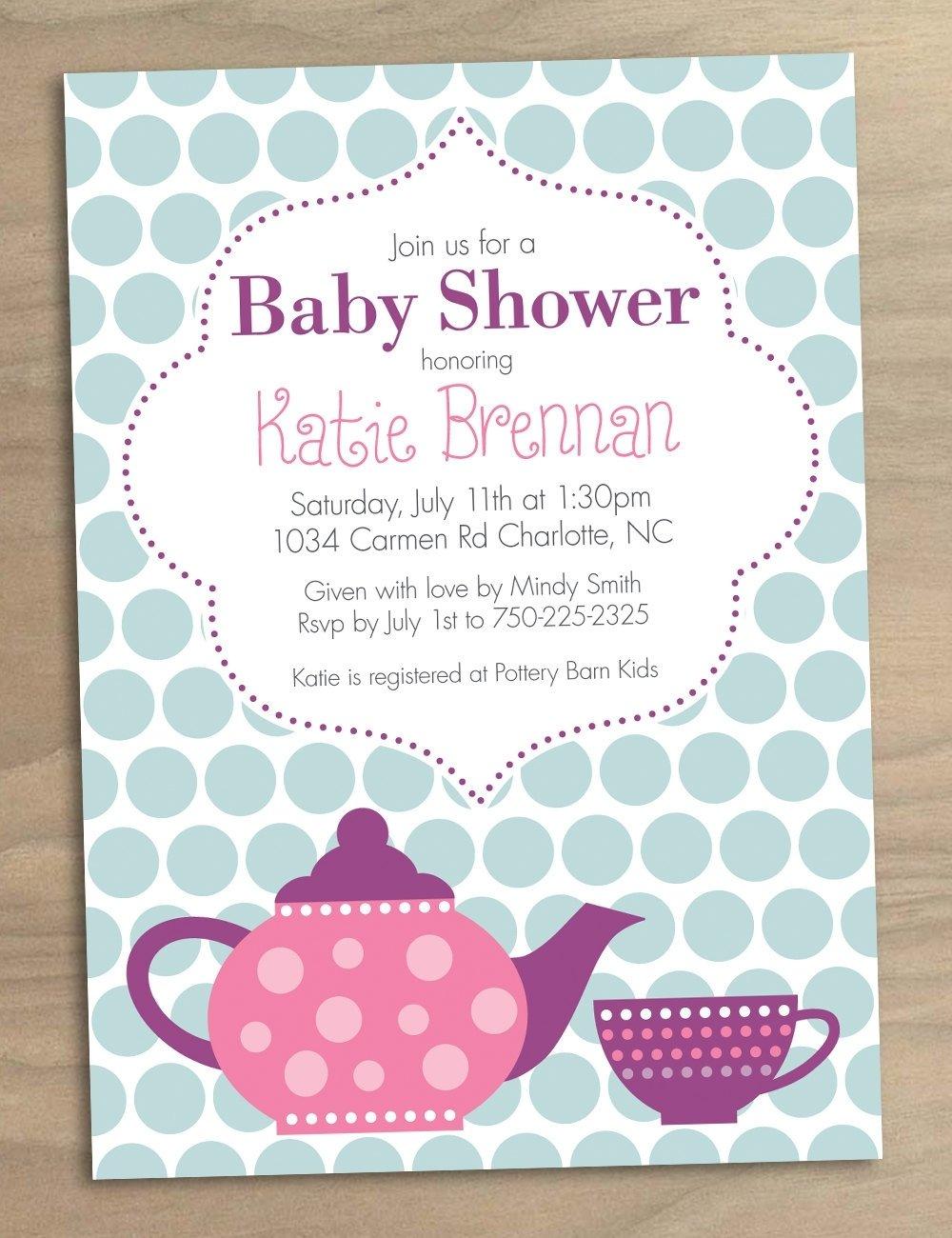 10 Fashionable Ideas For Baby Shower Invitations high tea baby shower invites templates sempak e39380a5e502 1 2021